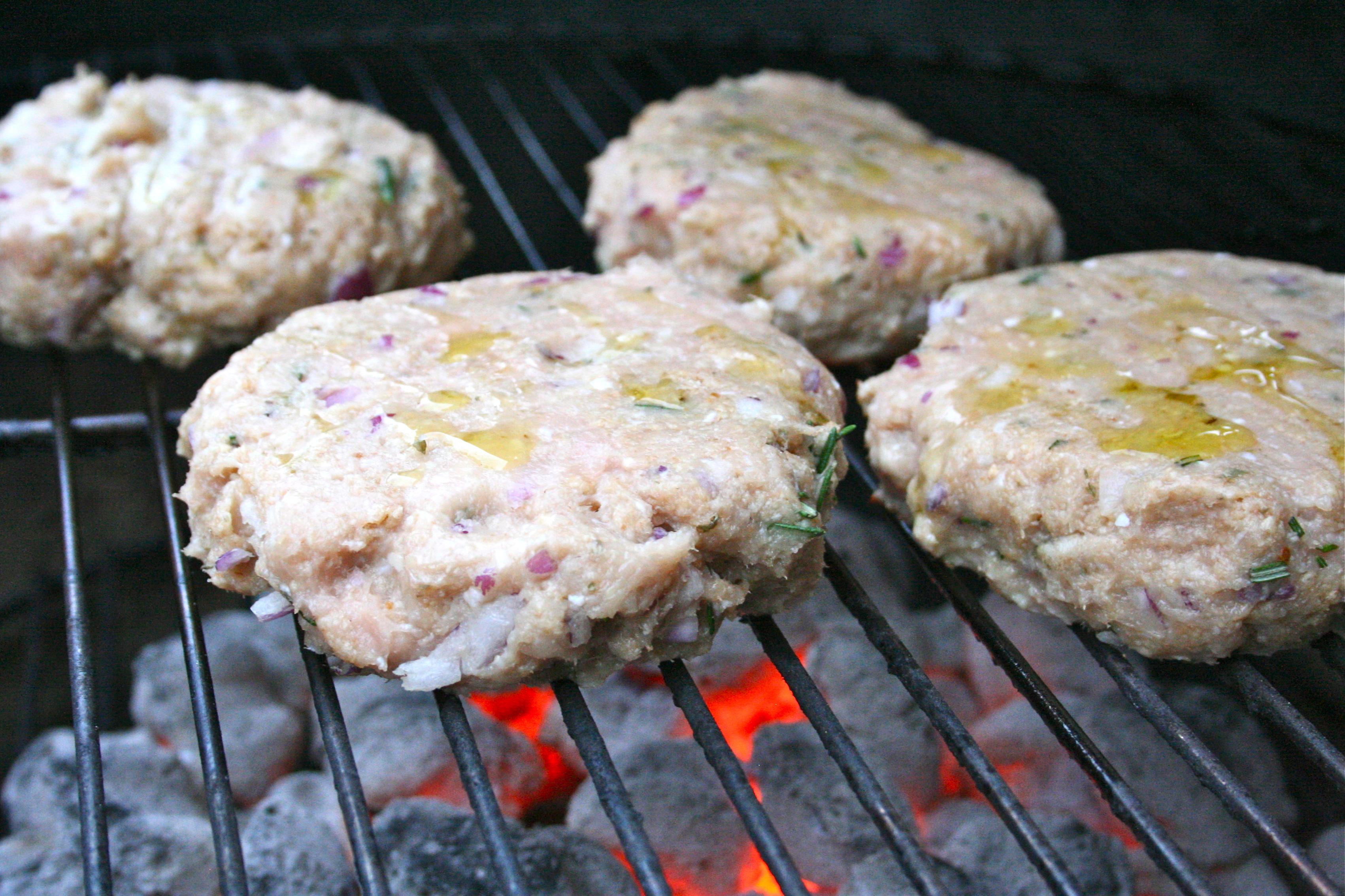 rosemary turkey burgers with meyer lemon aioli | whisking life away